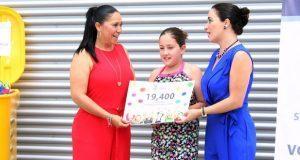Voluntariado de la SSP recibe donativo de 19,400 tapas de plástico