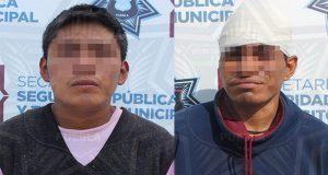 Detienen en colonia Centro y Santa María a 2 por robo a transeúnte