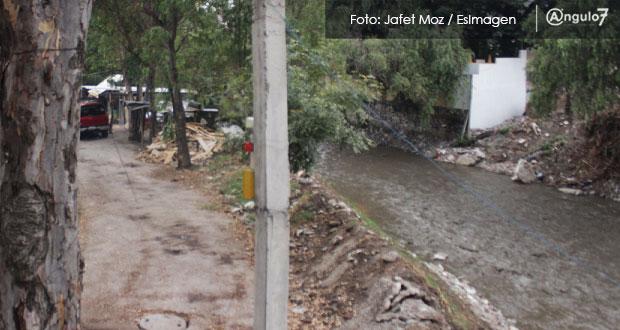 Detectan asentamientos irregulares susceptibles a deslaves en laderas del Atoyac