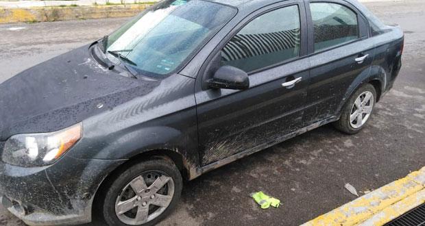 Detienen a 4 por asalto en Cuautlancingo; iban en vehículo robado