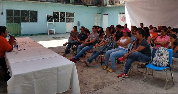 Imparten conferencia sobre la importancia de la cultura en Chietla