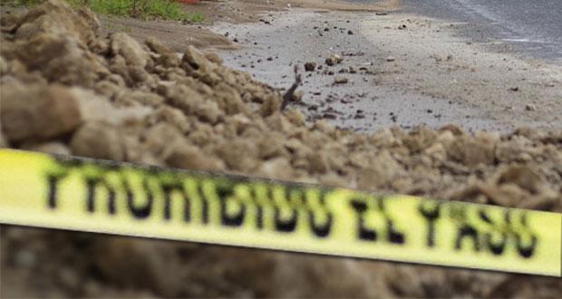 Deslave mata a dos personas en su casa de Tlacuilotepec
