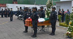 Rinden homenaje póstumo a policía caído en San José Los Cerritos