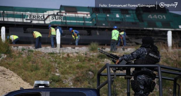 SSP de Puebla registra a la semana dos intentos de robo a trenes