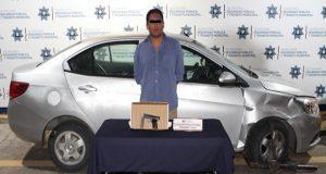 Ssptm detiene a presunto ladrón de autmóviles