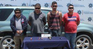Ssptm detiene a tres que habrían robado transporte de carga