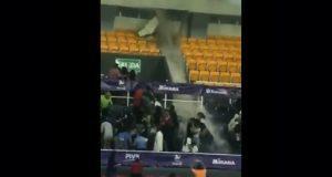 En pleno torneo, lluvias rompen techo de deportivo en Aguascalientes