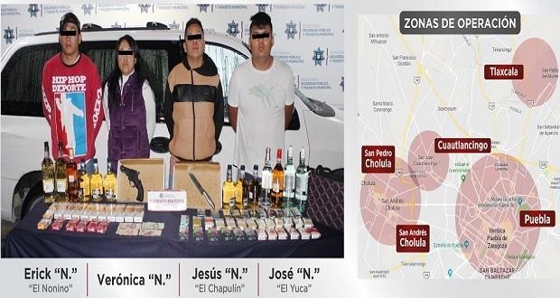 """Desarticulan a """"Los Fud"""", banda dedicada al robo a Oxxos en Puebla"""