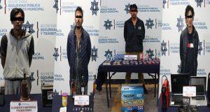 En zonas distintas de Puebla, detienen a 5 por robo a negocio