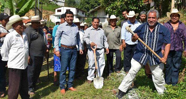 Antorcha inicia rehabilitación de albergue estudiantil en Huitzilan
