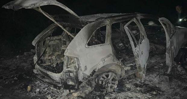 En Teotlalco, hallan 3 cuerpos calcinados dentro de una camioneta