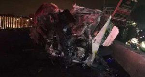 Asaltantes causan choque de combi en la México-Puebla; van 7 muertos