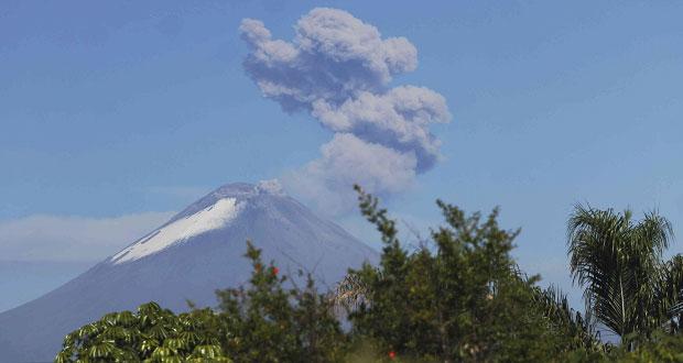 Actividad del Popocatépetl, dentro de alerta amarilla fase 2