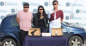 Agresión a policías municipales deja 3 sujetos detenidos en Puebla