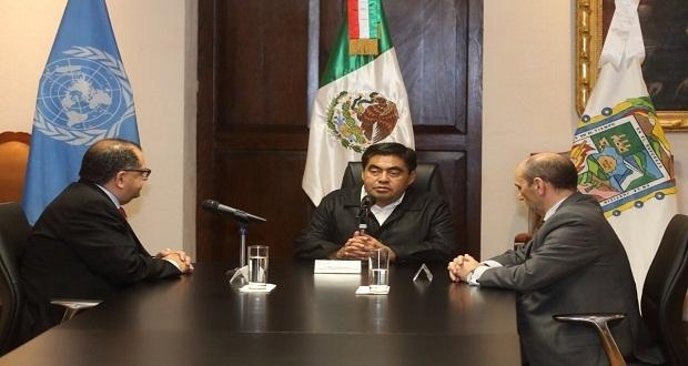 Barbosa garantiza  relación permanente con ONU