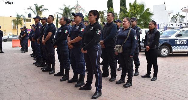 Capacitan a policías de Ocoyucan para procurar certeza jurídica