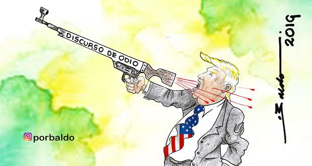 Caricatura-Trump-y-su-discurso-de-odio