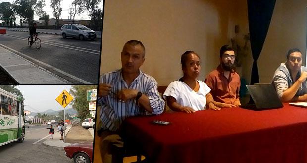 En Chipilo sigue oposición a obras de carretera a Atlixco por tala
