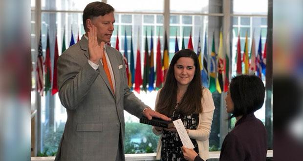 Christopher Landau rinde protesta como embajador de EU en México