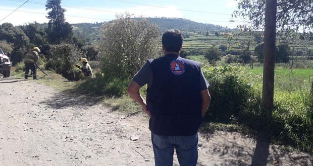 Controlan fuga clandestina de gas LP en San Martín Texmelucan