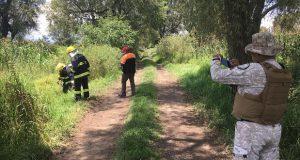 Controlan toma clandestina de gas LP en el ejido de Huejotzingo