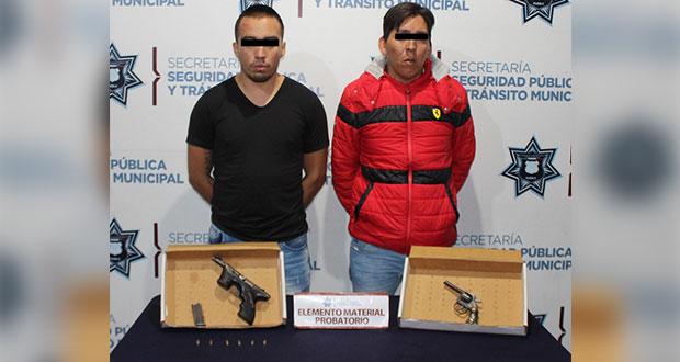 Detienen a 2 con pistolas en Viveros del Valle; uno sería homicida