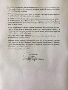 SEP investigará caso de docente de Uttecam que acusa hostigamiento