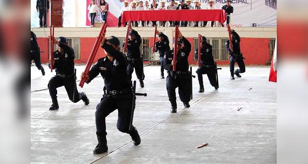 Egresa en Huitzilan otra generación de policías capacitados