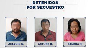 FGE rescata a secuestrada y detiene a tres plagiarios en Veracruz