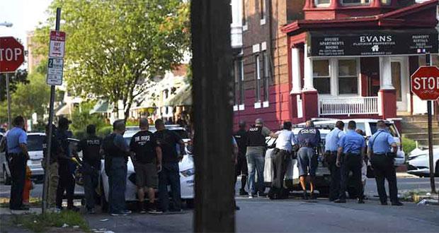 En Filadelfia, hiere a 6 policías cuando intentaban detenerlo