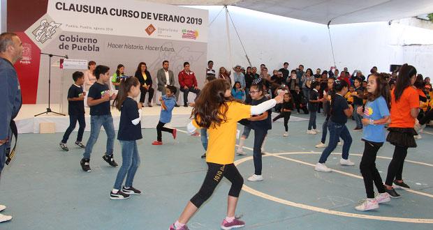 Finaliza curso de verano del DIF estatal; participaron 400 niños