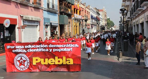 Fnerrr en Puebla invita a estudiantes a unirse a la organización