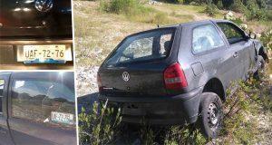 Hallan auto con el que arrollaron a conductor en la Puebla-Amozoc. Foto: Especial