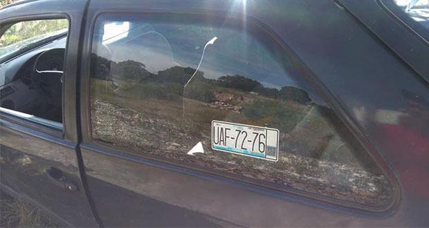 Hallan auto con el que arrollaron a conductor en la Puebla-Amozoc