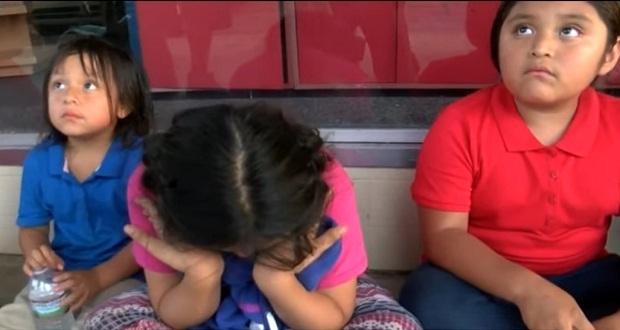 Hijos de migrantes arrestados piden compasión