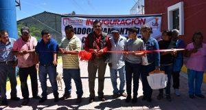 Inauguran adoquinado en Barrio del Once, de Ixcaquixtla