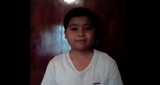 Niño pide ayuda a AMLO ante desabasto de quimioterapias en CDMX