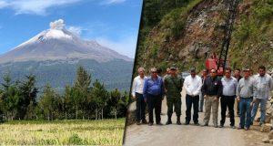 PC e Infraestructura supervisan rutas de evacuación del Popocatépetl