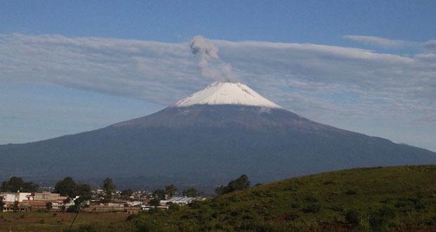 Popocatépetl mantiene actividad moderada en semana: Protección Civil