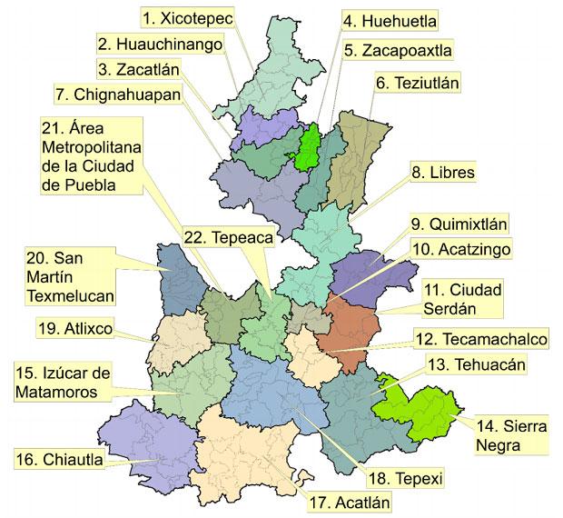 Sierra Negra, Zacatlán y Huehuetla, regiones con más marginación de Puebla