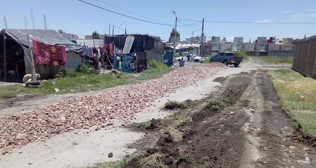 Remodelan calles en colonias Joyas y Ampliación al sur de Puebla