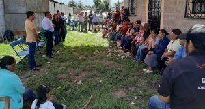 Con ayuda de Antorcha, acuerdan colocar alumbrado en Huejotzingo