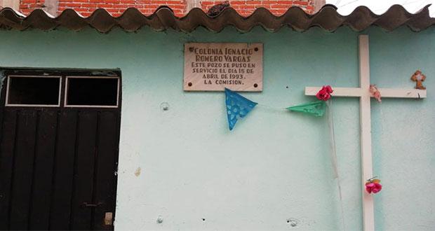 Agua de Puebla cobra a vecinos de Romero Vargas por drenaje que colapsa
