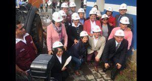 Karina Pérez inicia construcción de edificio de Fomento Económico. Foto: Especial