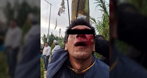 Colonos de la Romero Vargas detienen y golpean a presunto asaltante