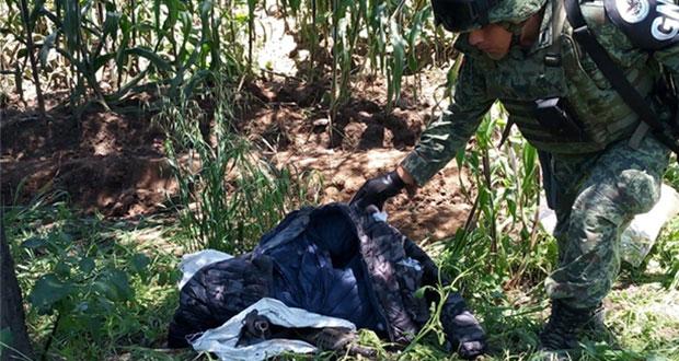En Puebla, recuperan armamento robado en Tlaxcala a Guardia Nacional