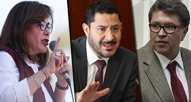 """Polevnsky y Batres van contra Monreal por elección """"sucia"""" en Senado"""