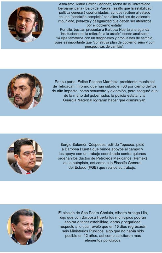 Seguridad y corrupción, principales retos de Barbosa, coinciden