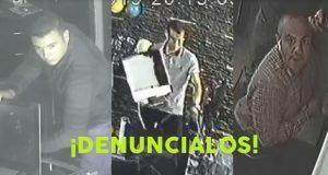 Exhiben a tres sujetos robando en oficinas de Prados Agua Azul