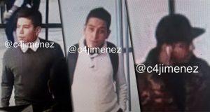 Exhiben rostros de 3 presuntos asaltantes de Casa de Moneda en CDMX